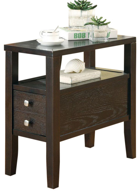 Casual Cappuccino Middle Lower Drawer Shelf Accent Storage