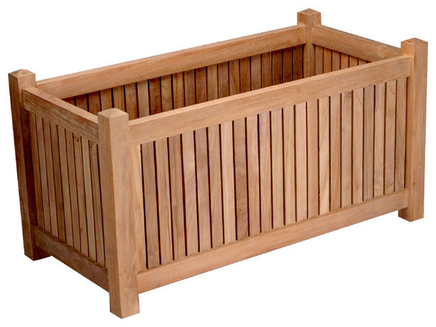 Teak Window Planter Box (approx 36 inches by 18 inches) - Outdoor Pots And Planters - by ...