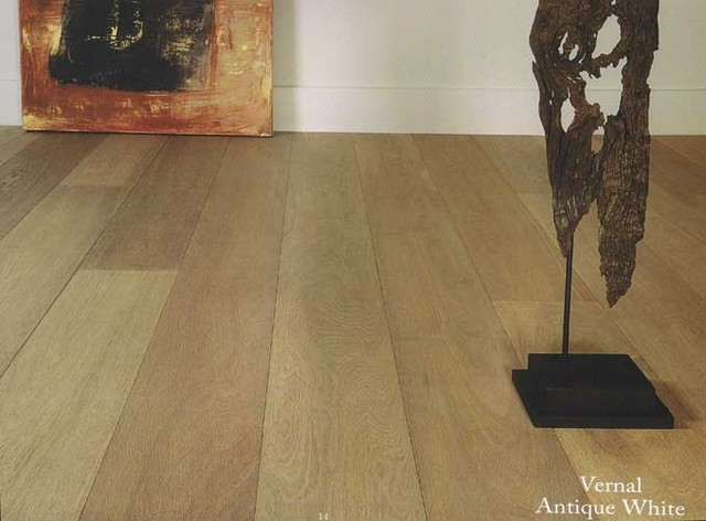 DUCHATEAU FLOORS VERNAL ANTIQUE WHITE, EUROPEAN WHITE OAK, VERNAL COLLECTION, VE traditional wood flooring