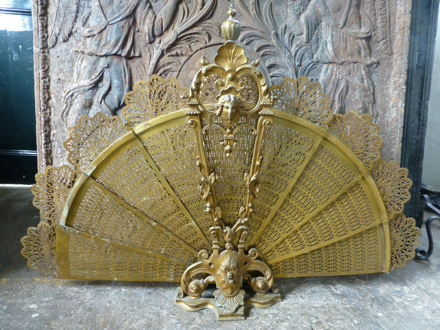 Antique French Fireplace Screens Traditional Fireplace Screens Other Metro By Antique