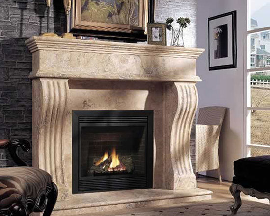 Marble Fireplace Mantels - Augusta -