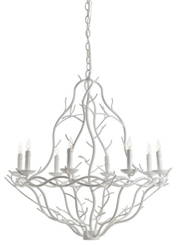 Durango 8L Iron Chandelier with White Finish contemporary-chandeliers