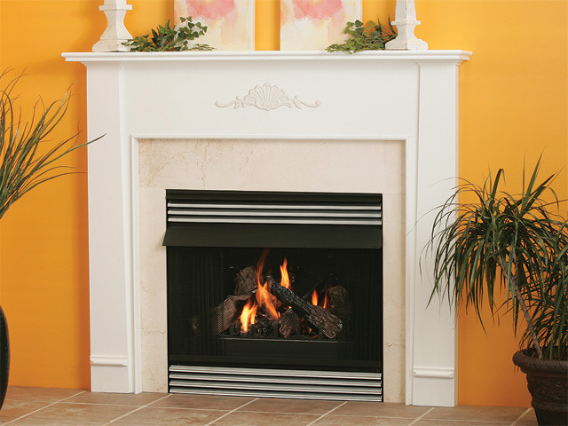 Cortland  Wood Fireplace Mantel traditional-indoor-fireplaces