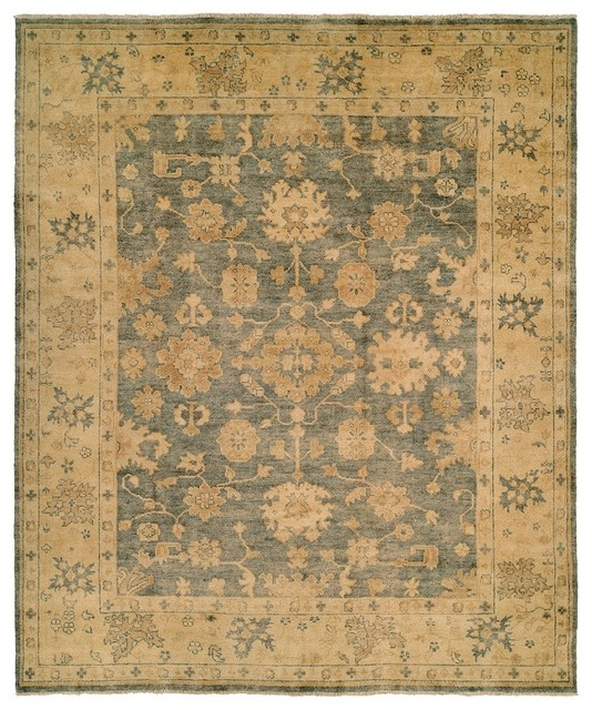 Oushak Crown 9x12 Hand Knotted Wool Area Rug Pattern 26.