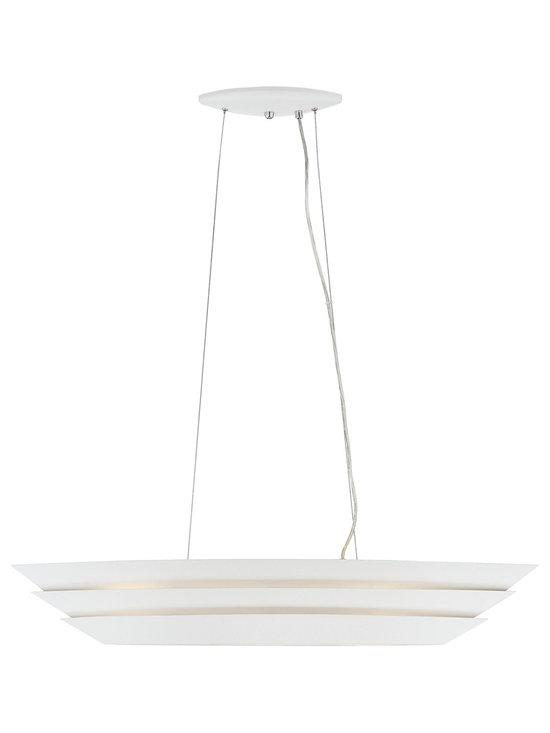 "Possini Euro Design - Fizi Matte White 38 3/4"" Wide Island Pendant Chandelier - Contemporary island pendant. Matte white finish. Aluminum construction. Three maximum 26 watt or equivalent GU24 bulbs (not included). Measures 38 3/4"" wide 9 3/4"" deep. 116 1/2"" maximum hanging height. Diffuser is 23 3/4"" wide 4 3/4"" deep. Canopy6 is 10 3/4"" wide 4 3/4"" deep 1"" high. Hanging weight is 8.8 lbs.  Contemporary island pendant.  Matte white finish.  Aluminum construction.  Three maximum 26 watt or equivalent GU24 bulbs (not included).  Measures 38 3/4"" wide 9 3/4"" deep 6"" high.  116 1/2"" maximum hanging height.  Diffuser is 23 3/4"" wide 4 3/4"" deep.  Canopy is 10 3/4"" wide 4 3/4"" deep 1"" high.  Hanging weight is 8.8 lbs."