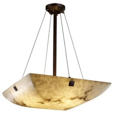 Justice Design Group LumenAria FAL-9662-25-DBRZ-F5 24 in. Pendant Bowl with Conc modern ceiling lighting