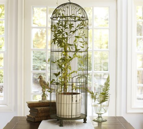 Tall Wire Bird Cage traditional accessories and decor