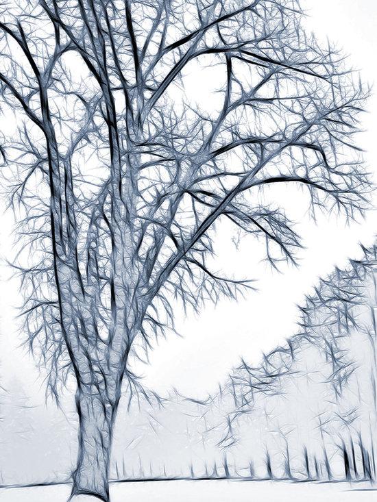 Foggy Morning Landscape Fractal -