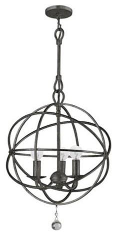 Solaris English Bronze Pendant Light traditional-pendant-lighting