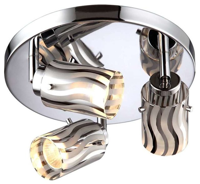 Canarm Stella 3 Light Ceiling/Wall Fixture in Chrome - Contemporary - Spot Lights - by ShopFreely
