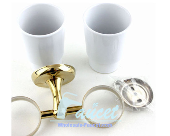 Polished Brass Toothbrush Tumbler Holder - ●Wall Mounted Polished Brass Toothbrush Tumbler Holder J-108