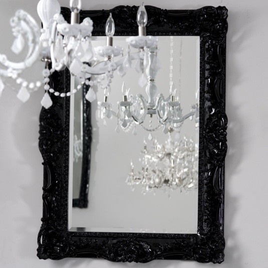Black Wall Mirrors black victorian mirror images - reverse search