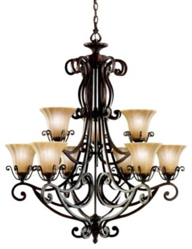 Cottage Grove Two-Tier Chandelier traditional-chandeliers