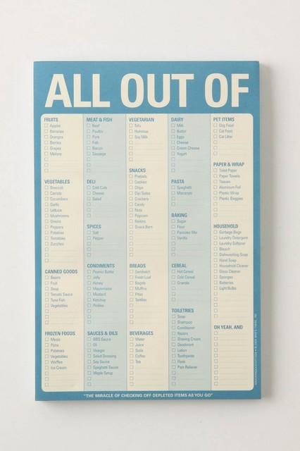 All Out Of Notepad contemporary-desk-accessories