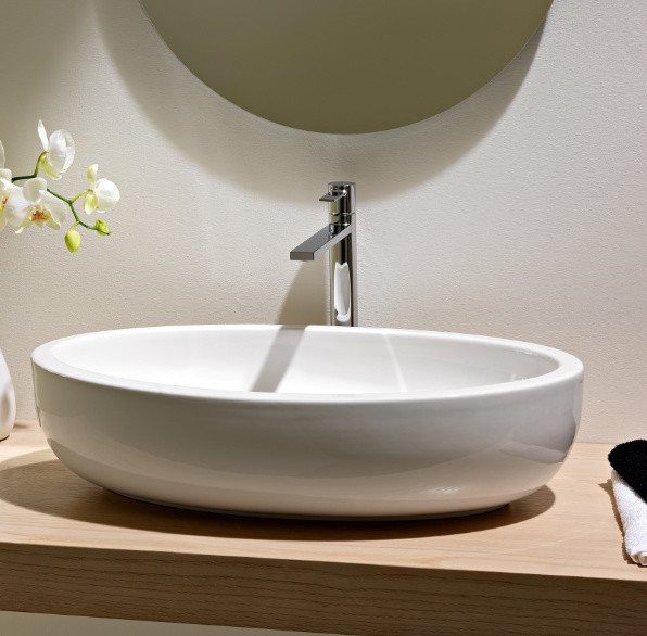 Above The Counter Bathroom Sinks : ... Above Counter Vessel Bathroom Sink by Scarabeo contemporary-bathroom