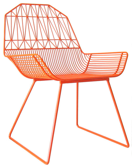 Farm House Lounge Chair, Orange - modern - outdoor chairs - by