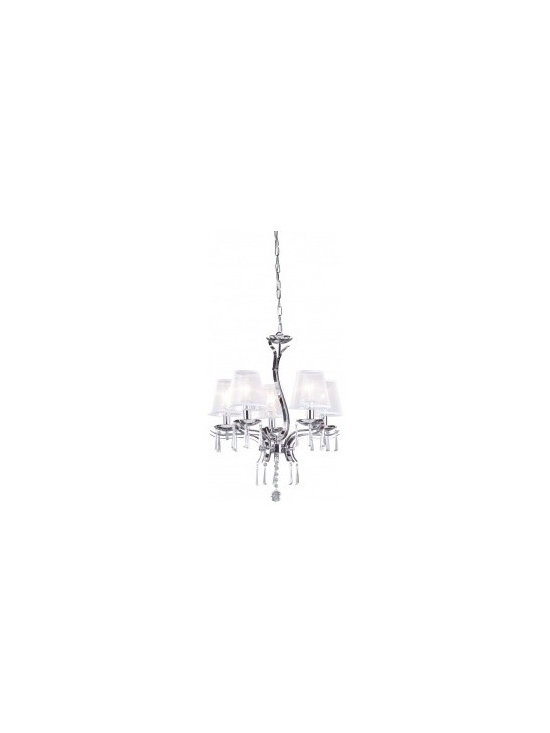 Chrome and Crystal Chandelier - EL1CA045