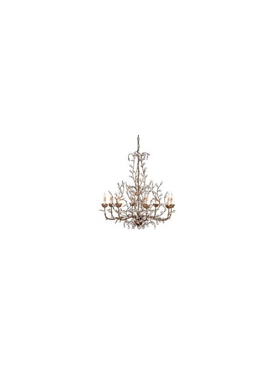 Currey In a Hurry Crystal Bud Traditional Chandelier - Large - CNC-9884 - Currey In a Hurry Crystal Bud Traditional Chandelier - Large - CNC-9884