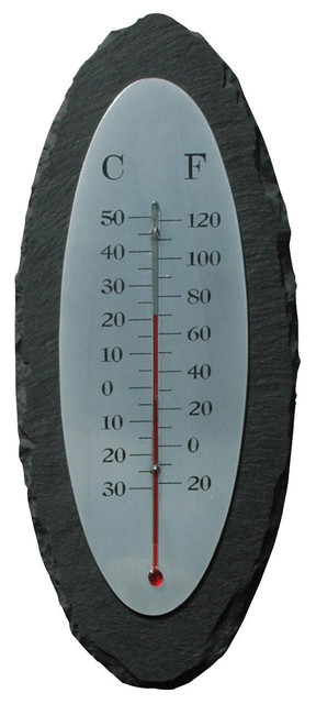 slate thermometer oval traditional decorative thermometers by parpadi. Black Bedroom Furniture Sets. Home Design Ideas