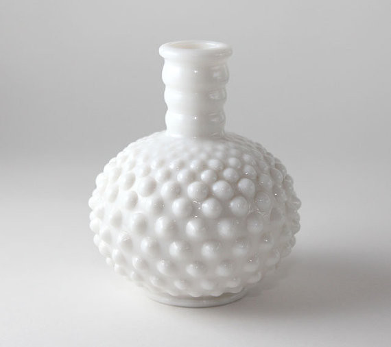 Milk Glass Vase by The Vintage Daughter - Traditional - Vases - by Etsy