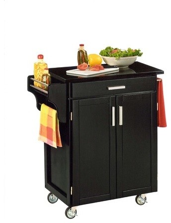 create a cart small kitchen cart in black traditional kitchen islands and kitchen carts by. Black Bedroom Furniture Sets. Home Design Ideas