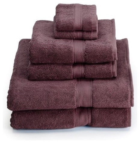 Revman Supreme Egyptian Cotton 6 Piece Towel Set traditional towels