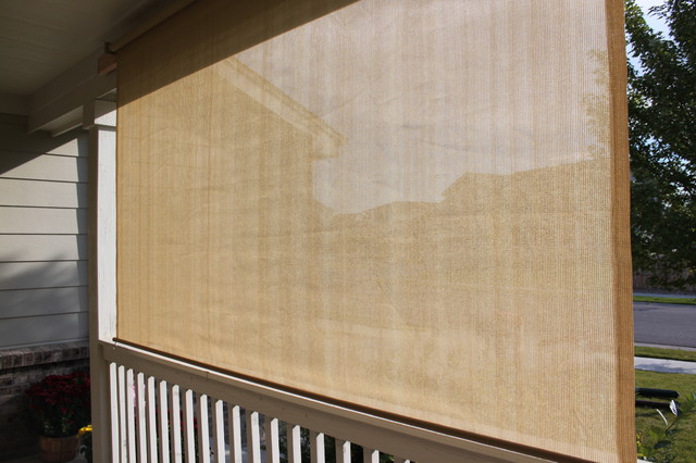 Exterior solar screen shades or porch shades modern for Roll up screens for porches