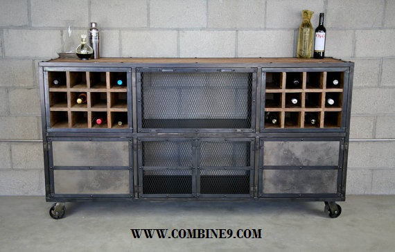 Liquor Cabinet/Bar Modern/Industrial. Reclaimed Wood. Custom