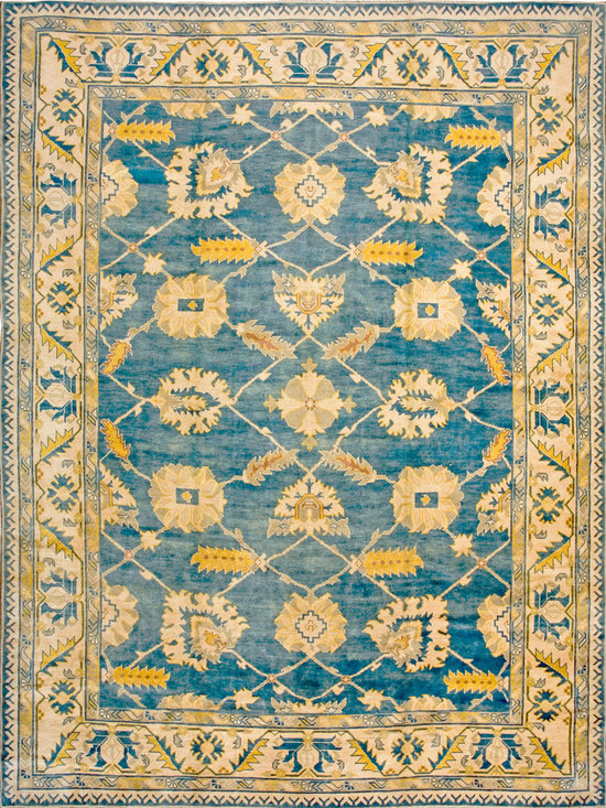 "Antique Turkish Oushak Carpets - #19246 vintage Turkish Oushak 9'6"" x 13'6"""