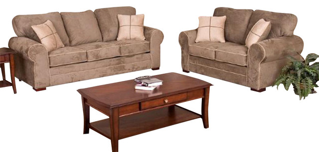 Chelsea Home Tammy 2-Piece Living Room Set in Dynasty Chamois traditional-sofas