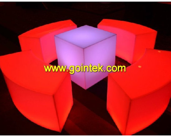 Illuminated Led Stools,LED double chair with rechargeable battery -