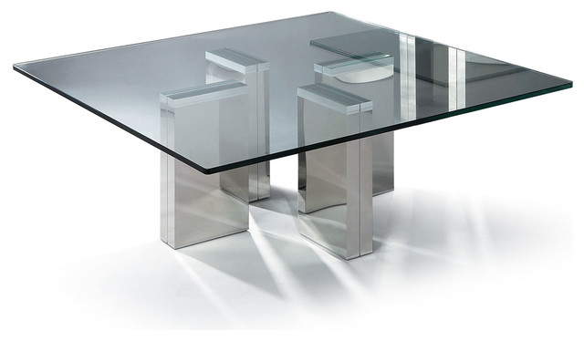 Modern Square Glass Coffee Table Urbino Modern Coffee Tables Other Metro By Furnillion