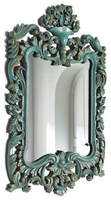 Turquoise Mirror traditional-mirrors
