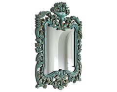 Turquoise Mirror traditional mirrors