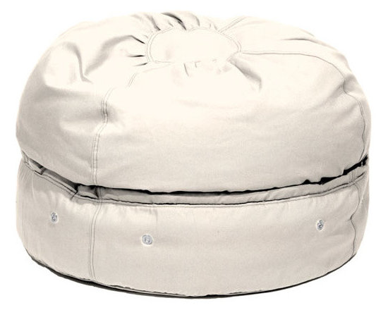 mimish - storage beanbag micro-suede - The Storage Beanbag has beans on the top and storage on the bottom. The storage compartment can be used for seasonal clothes, bedding, towels, stuffed animals, costumes, and much more. All unsightly clutter is hidden while you sit on it, use it as an ottoman, or watch the kids play with it. It is perfect for urban spaces, play rooms, bedrooms and dorm rooms where you always seem to lack both storage and seating solutions.