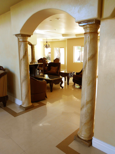 Faux Marble Columns traditional