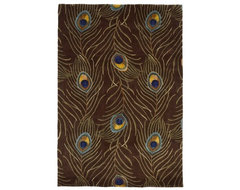 Catalina Mocha Peacock Feathers Rug modern rugs