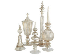 Antiqued Glass Finials Set modern-accessories-and-decor