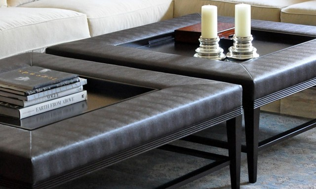 Carlisle Coffee Table Ottoman Contemporary Coffee Tables Los Angeles By Plush Home By