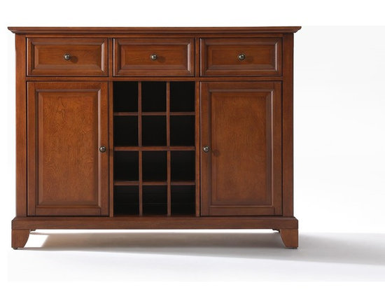 Crosley - Newport Buffet Server-Sideboard Cabinet with Wine Storage - Dimensions: 18 x 47.8 x 36 inches