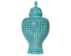 Aquamarine Filigree Urn asian-vases