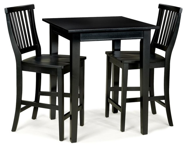 3 Pc Square Bistro Table Set Contemporary Indoor Pub