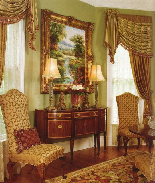 Traditional Window Treatments Living Room: Window Treatments From Our Custom Workroom