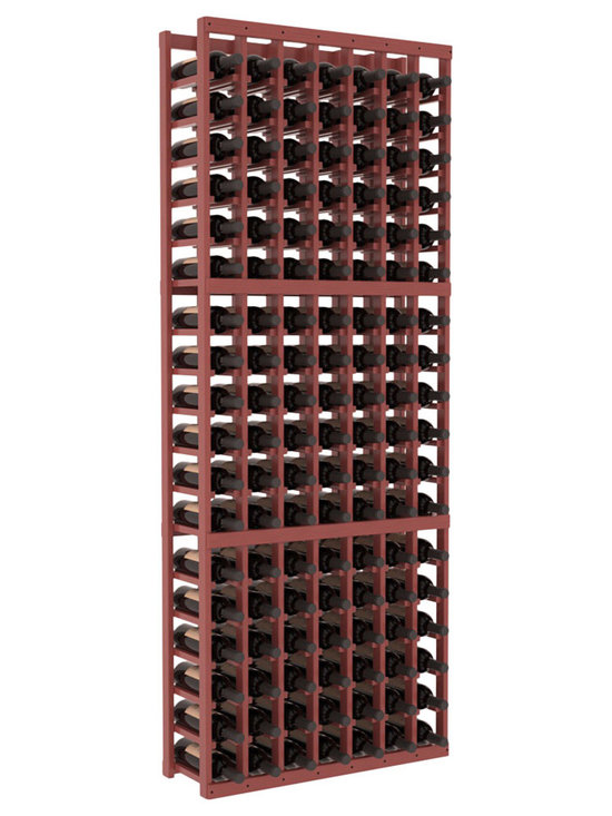 Wine Racks America - 7 Column Standard Wine Cellar Kit in Pine, Cherry Stain + Satin Finish - Seven columns of beautiful wooden wine storage. Elegant yet strong, this racking offers softened edges to create aesthetic beauty in the finish that is also soft on your hands and bottle labels. Rack quality and customer satisfaction are Wine Racks America guarantees.