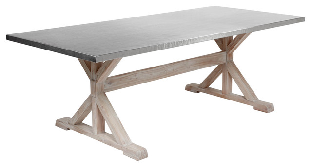 Deluca Stainless Dining Table industrial-dining-tables