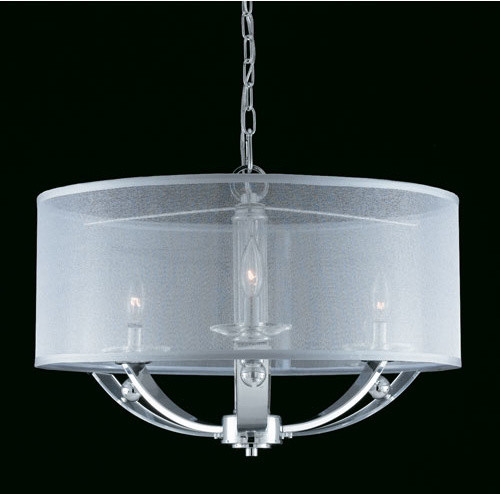 Modern Drum Ceiling Lights : Aurora three light drum pendant contemporary