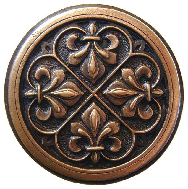 Fleur-de-Lis Knob (antique copper) traditional-cabinet-and-drawer-knobs