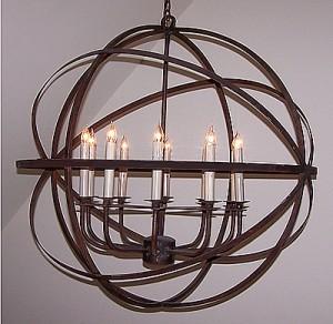 Solaria LeMonde 10 Candle Chandelier eclectic-chandeliers