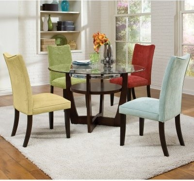 Standard Furniture La Jolla 5 Piece Dining Table Set - Taupe modern-dining-tables