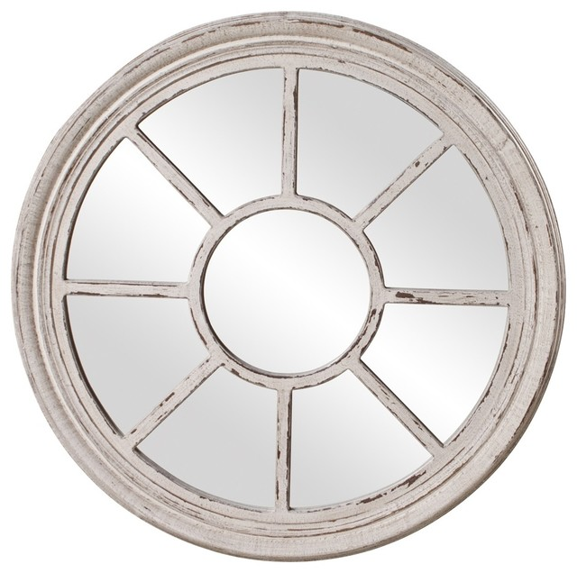 Desmond stone grey mirror contemporary mirrors by